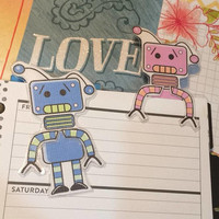 Robot Page Holders/Bookmarks
