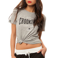 The Crookland Tee in Heather Grey