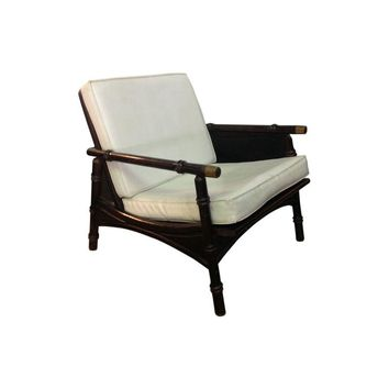 Pre-owned Faux Bamboo Regency Style Arm Chair