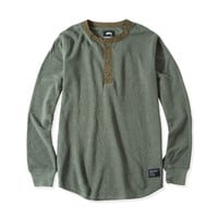 Stussy: Thermal Henley - Olive