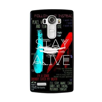 twenty one pilots stay alive lg g4 case cover  number 1