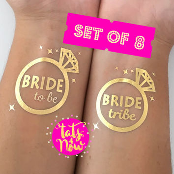 8 Diamond ring bride tribe and bride to be © bachelorette party favors