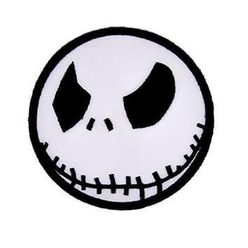Angry Jack Skellington Iron On Patch Halloween Applique  Nightmare Before Christmas