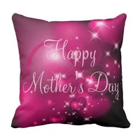 "Custom Mother's Day Cotton Throw Pillow 16""x16"""