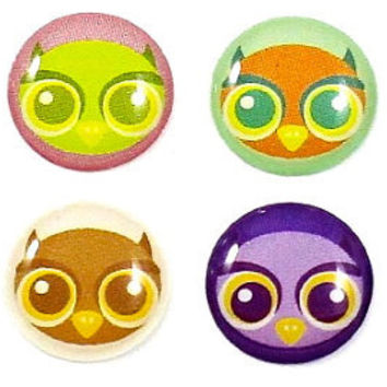 Owl - 8 Piece iPhone Home Button Stickers for Apple iPhone, iPad, iPad Mini, iTouch