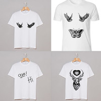 One Direction tattoo T-shirt Harry Styles Louis Tomlinson