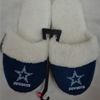 Dallas Cowboys Official NFL Womens Sherpa Slipper