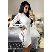Sabella Snow white bodycon dress
