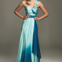 SALE! 2012 Homecoming Dresses! Evenings By Allure-Turquoise Ruched Grecian Gown - Size 0-18 - Unique Vintage - Cocktail, Pinup, Holiday & Prom Dresses.