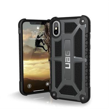 DCCKRQ5 UAG iPhone X Monarch Feather-Light Rugged [GRAPHITE] Military Drop Tested iPhone Case