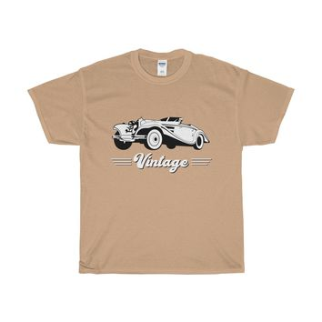 Vintage Car Heavy Cotton T-Shirt