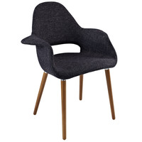 Mid-Century Modern Arm Chair Black