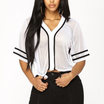 Fierce Player Top - White