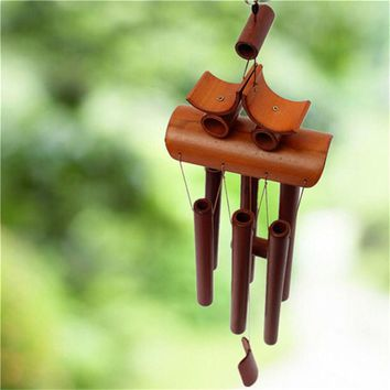 Bamboo Wind Chime Feng Shui Decoration