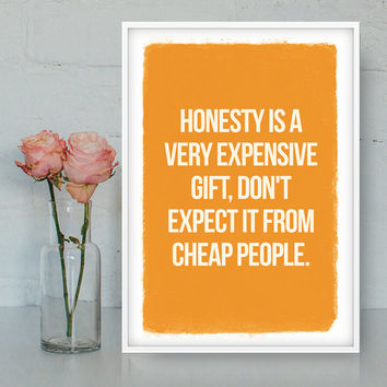 Honesty printable quote, Home decor, Wall art, Printable poster, Bitchy poster, Quote poster, Funny quote, Digital print, INSTANT DOWNLOAD