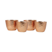 Taos Set of 4  Planters Copper
