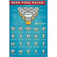 NMR 99400 Beer Pong Racks Decorative Poster
