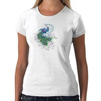 Peacock Tattoo T-Shirt from Zazzle.com