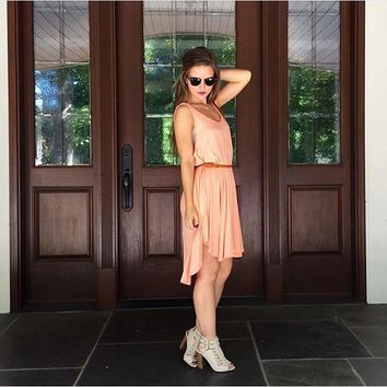 Peach Swing Dress