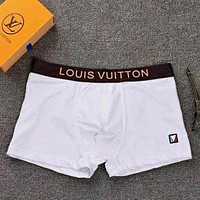 LV Louis Vuitton tide brand new men's breathable and comfortable boxer briefs white