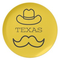 Texas in Yellow 2 Melamine Plate