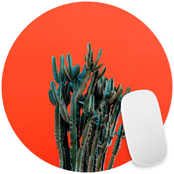Cactus on Red Mouse Pad Decal