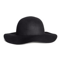 H&M - Wool Hat - Black - Ladies