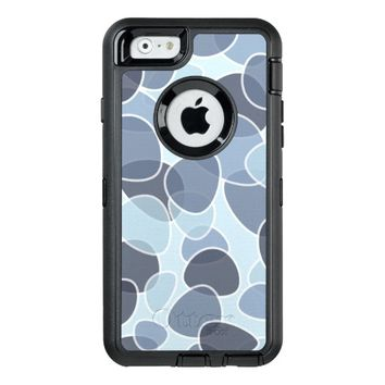 pretty blue abstract OtterBox defender iPhone case