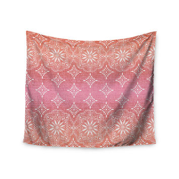 "Suzie Tremel ""Medallion Red Ombre"" Pink Wall Tapestry"