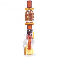 Pure Glass ZERO X4 Detachable Freezable Quad Coil Glass Tube with Ash Catcher - Amber - Bongs and Waterpipes - Smoking Pipes - Grasscity.com