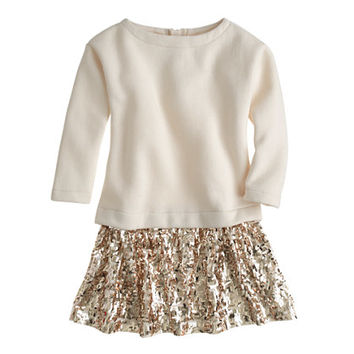 crewcuts Girls Sequin-Skirt Sweatshirt Dress