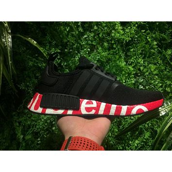 Best Online Sale Supreme Sup x Adidas NMD R1 Black/Red Runner PK Boost Fashion Trendin
