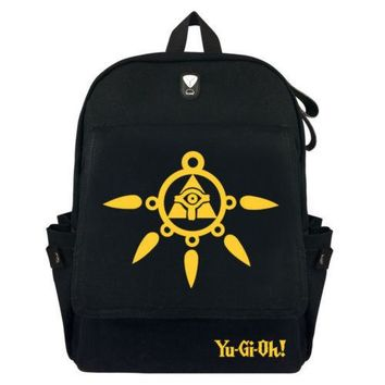 Anime Backpack School New kawaii cute Yu-Gi-Oh! Backpack Schoolbag Cosplay Gamer Fans Canvas Laptop Shoulder Travel Bag Knapsack Gift AT_60_4