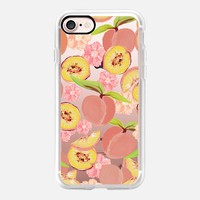 Peaches - Transparent/Clear Background iPhone 7 Case by Lisa Argyropoulos | Casetify