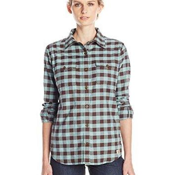 Carhartt Womens Hamilton Stretch Flannel Button Front Shirt