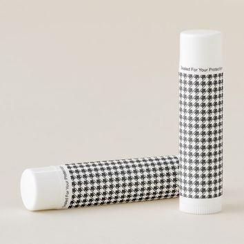 Black White Houndstooth Lip Balm
