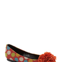 Cake Pop Party Flat in Orange | Mod Retro Vintage Flats | ModCloth.com