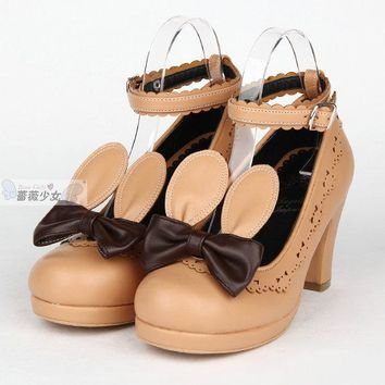 Lolita Shoes For Wedding Dress Japan Style Shoes PU Cosplay Shoes For Maid Dress Free Shipping 34-44