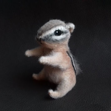Chipmunk Stuffed Animal Plush Crochet Toys Miniature Animal Home Decor Gift for Her Cute Miniature Figurine Plush Toy Collectibles Animal