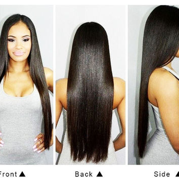 Malaysian Virgin Hair 100% Real Human Straight Hair Bundle 300g 6A