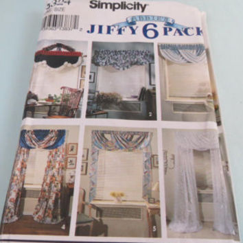Vintage Simplicity 8324 pattern Curtains Home Decor Valances Jiffy 6 Pack curtain pattern