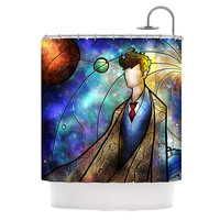 "Mandie Manzano ""The 10th"" Space Blue Shower Curtain"