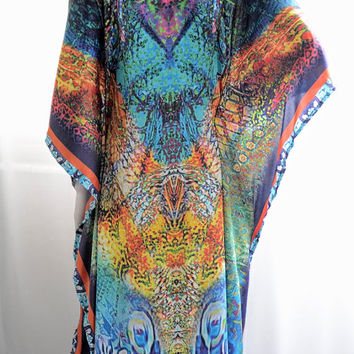 Non sheer Long kaftan dress, caftan kaftan, silk kaftan, beach dress, kaftan maxi dress, long dress