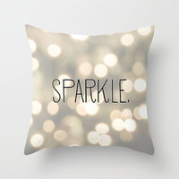 Sparkle. Throw Pillow by PrintableWisdom | Society6