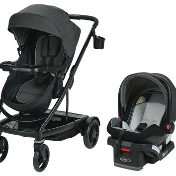Graco Baby UNO2DUO Travel System Stroller w/ SnugLock 35 Infant Car Seat Ace NEW