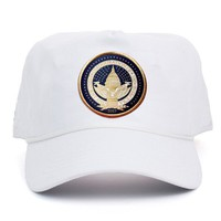 Official Inauguration Gold Seal Hat - White