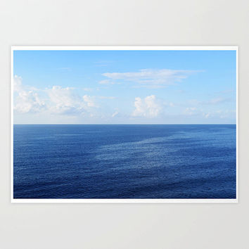 Caribbean Sea - Photograph Print, Ocean Nautical Seascape Accent, Blue Coastal Surf Home Interior Wall Art Hanging in 8x10 11x14 16x20 20x30