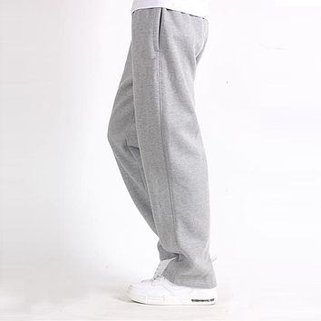 Men Plus Size 7XL Pants Solid Baggy Loose Elastic Pants Pencil Sweatpants Casual Pants Men's Trousers Joggers Large Big 5XL 6XL