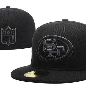 San Francisco 49ers New Era 59fifty Nfl Football Cap All Black