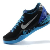 vawa nike zoom men s kobe 8 system 613959 004 basketball shoes black blue  number 2
